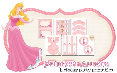 princess aurora  printable kit   fiesta  english
