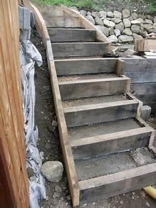 Comment Faire Des Marches Dans Un Talus : escalier ext rieur en ch ne et pierre naturelle le blog de prix maison bois ~ Melissatoandfro.com Idées de Décoration