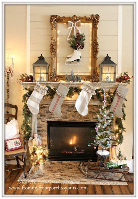 christmas mantel  blog hop christmas
