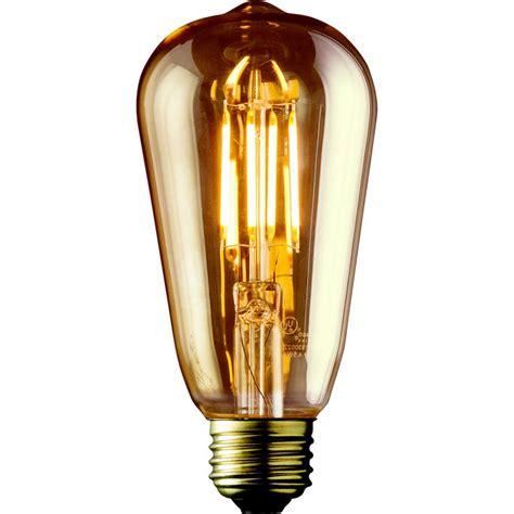 home depot edison lights archipelago 40w equivalent warm white st19 amber lens