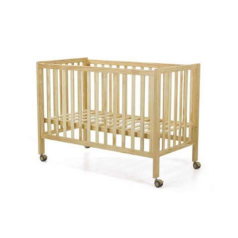 cuna bebe niza lacada en madera natural  blanco