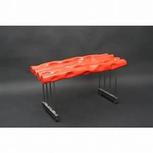 Banc Design Interieur : banc int rieur design acier rose orange nicolas desbons ~ Teatrodelosmanantiales.com Idées de Décoration
