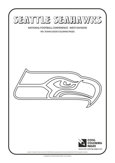 cool coloring pages seattle seahawks nfl american football teams logos coloring pages cool