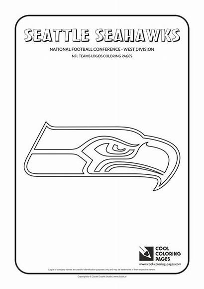 Seahawks Coloring Nfl Pages Seattle Football Logos
