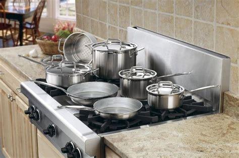cookware stainless steel cuisinart pro piece multiclad mcp sets kitchen bottom pot