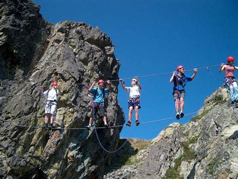 guided via ferrata chamrousse