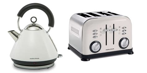 Morphy Richards Accents Kettle & Toaster Set In White S