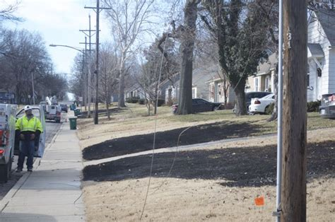 downed power roeland park sets grass fires front yards