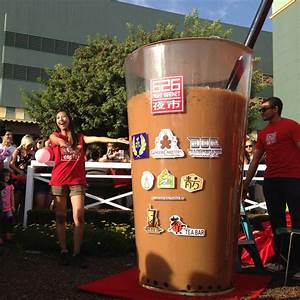 The World's Largest Cup of Boba Milk Tea! #DRINKBIG