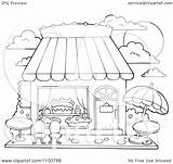 Candy Cake Clipart Outlined Outdoor Illustration Seating Vector Royalty Visekart Background sketch template