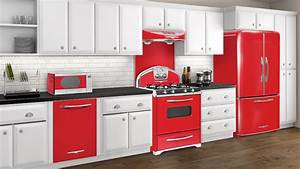 retro style kitchen appliance home design With best brand of paint for kitchen cabinets with large star stickers