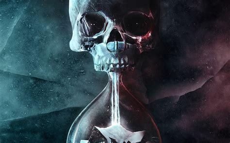 wallpaper  desktop laptop  skull dark dead art illustration time