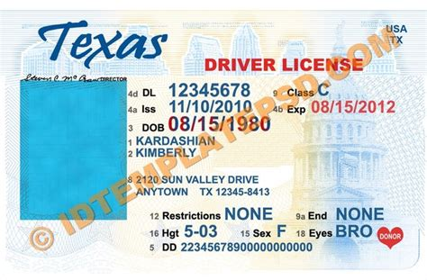 texas usa state drivers license psd photoshop