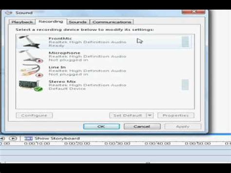 how to use and record microphone stereo mix at the same time in windows 7