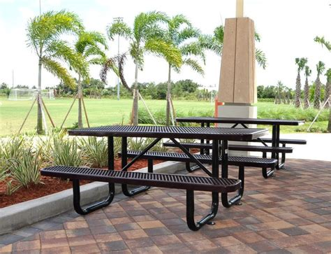 25+ Best Ideas About Metal Picnic Tables On Pinterest