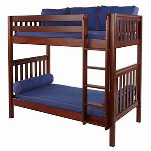 Tall Slatted High Bunk Bed - RosenberryRooms.com