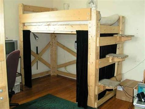 diy loft bed with desk best diy full size loft bed the best diy full size loft