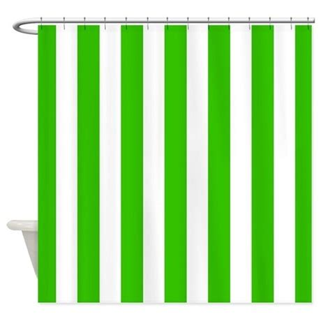 Green Vertical Striped Curtains by Green And White Vertical Stripes Shower Curtain By