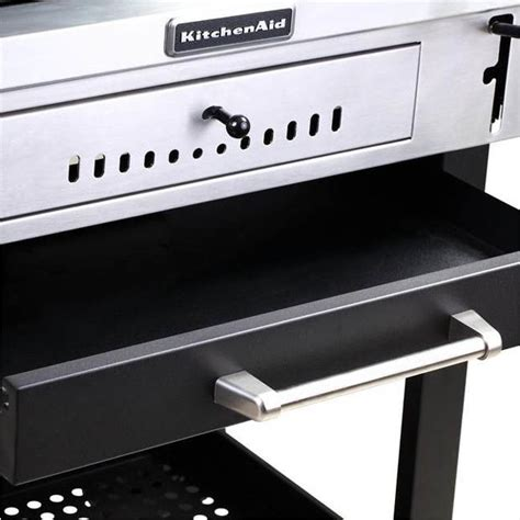 Kitchenaid Cartstyle Charcoal Grill In Black With