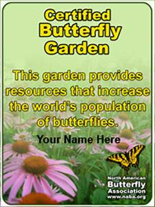 Butterfly garden certification for Butterfly garden certification