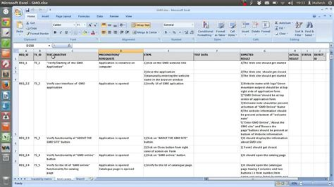 sample test case template document excel youtube