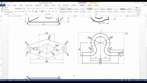 drawing  profiles  autocad youtube