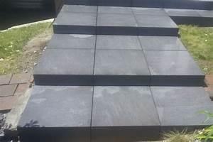 realisations de terrasse a lorient dans le morbihan With pose carrelage escalier exterieur