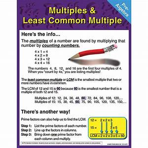 Image Gallery least common multiple chart