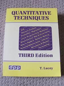 Quantitative Techniques By T Lucey Pdf