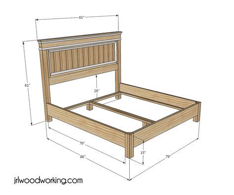 pdfwoodplans wood king bed plans plans