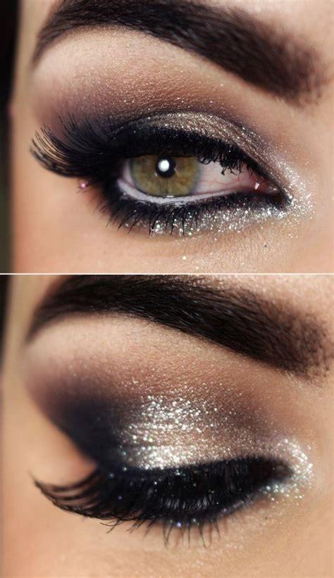 amazing glittery eye makeup  pretty designs