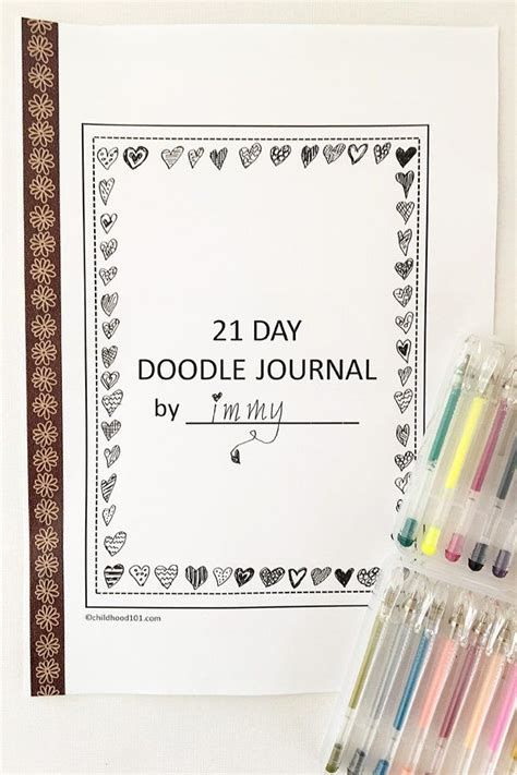 easy doodle art prompts  kids  printable daily