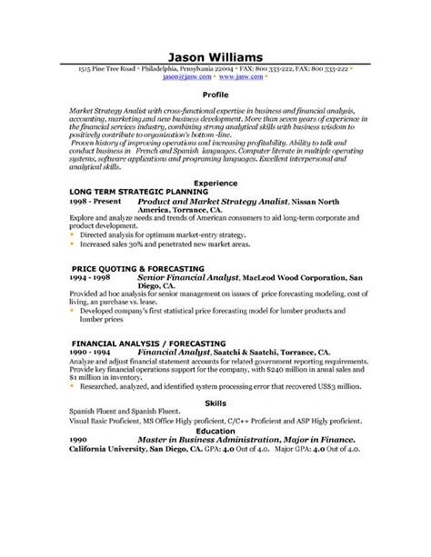 Example Resume Sample Resume Examples