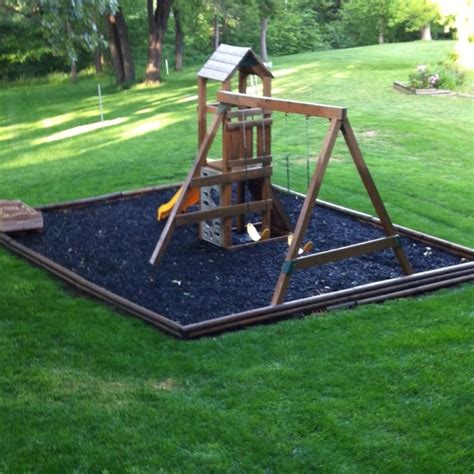 best mulch for playground 17 best images about playset on rope ladder 4577