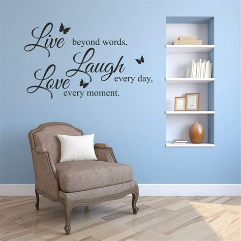 Decorative home decor inspiring live laugh love amazon com. Amazon.com: Wall Decals Live - Love - Laugh - Any Colour and Size - Vinyl Wall Art Decal Sticker ...