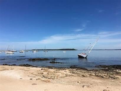 Uruguay Punta Este Del Shoreline Boat Tilted