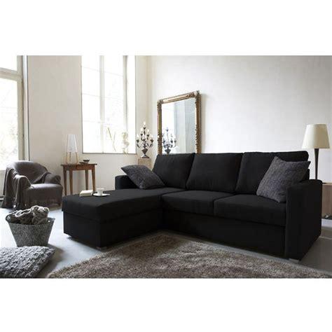 canapé noir tissu jules canapé d 39 angle réversible convertible 4 places