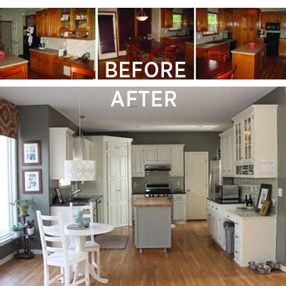updating kitchen cabinets on a budget diy makeover old gray and white budget kitchen makeover no appliances were