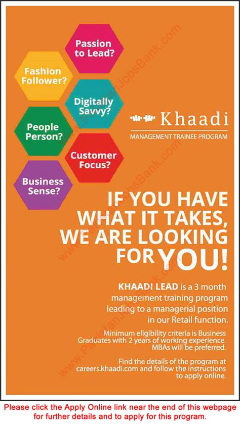 khaadi jobs july  apply  management trainee