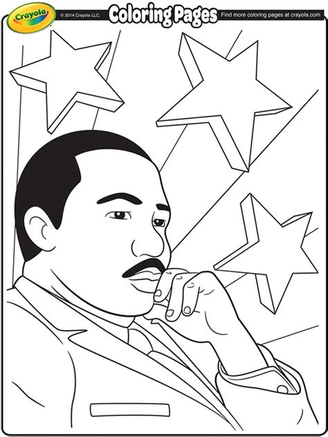 martin luther king jr coloring page martin luther king jr coloring page crayola
