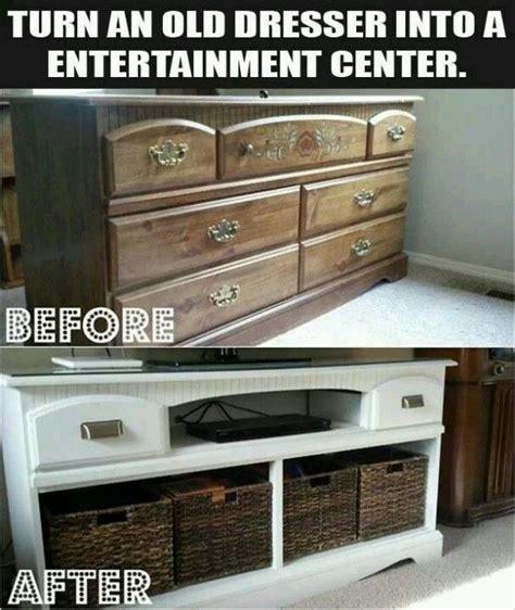 Turn An Old Dresser Into An Entertainment Center Diy