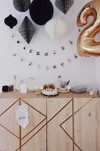 Foto Deko Ideen : einfach goldig foto girlande geburtstag und ~ Watch28wear.com Haus und Dekorationen