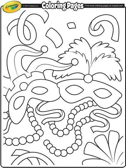 mardi gras masks coloring page crayolacom