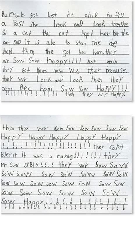 grade writing sample  reading rockets