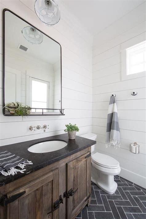 slate herringbone floor tiles frame  rustic wood