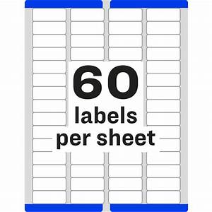 free template for labels 30 per sheet - avery easy peel return address label ave5155