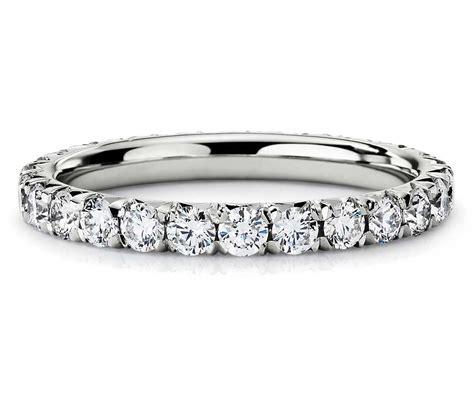 french pav 233 diamond eternity ring in platinum 1 ct tw