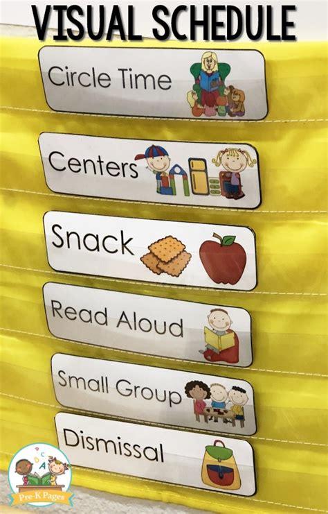 preschool daily schedule  visual schedules