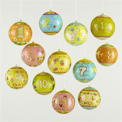 12 days of christmas ornament set winter xmas