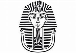 Wall decal tutanchamun pharaoh mask vinyl decor for King tut mask template